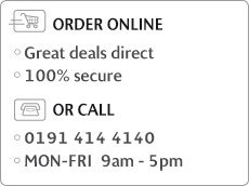 ORDER ONLINE, Great deals direct, 100% secure - OR CALL 0845 002 0645, MON-FRI 9am - 5pm